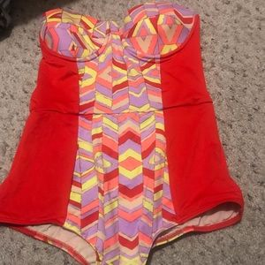 Anthropologie vintage style swimsuit sizeS
